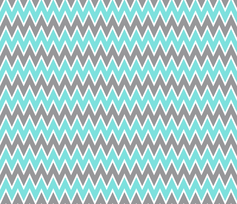 Aqua Chevron Stripe fabric by allisajacobs on Spoonflower - custom fabric