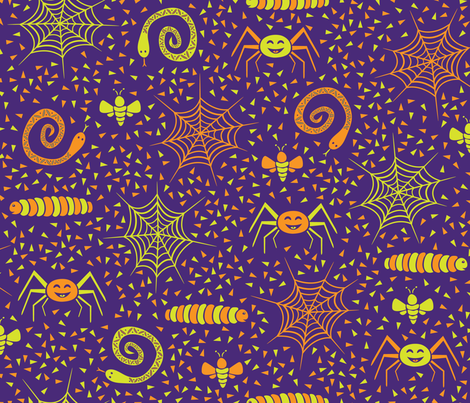 Kooky Spooky Critters fabric by robyriker on Spoonflower - custom fabric