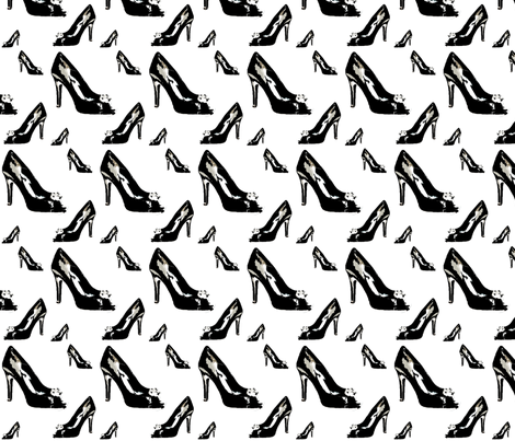 Shoes2 in White fabric by stickelberry on Spoonflower - custom fabric