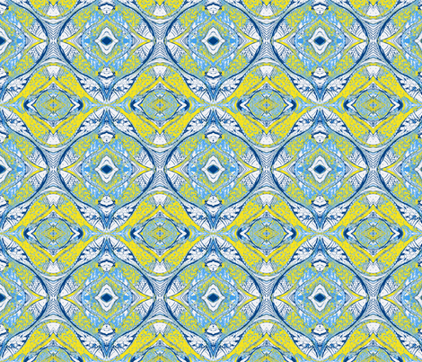 Pesky Mandala- Blue Tang Clan fabric by roly_poly_bat_faced_girl on Spoonflower - custom fabric