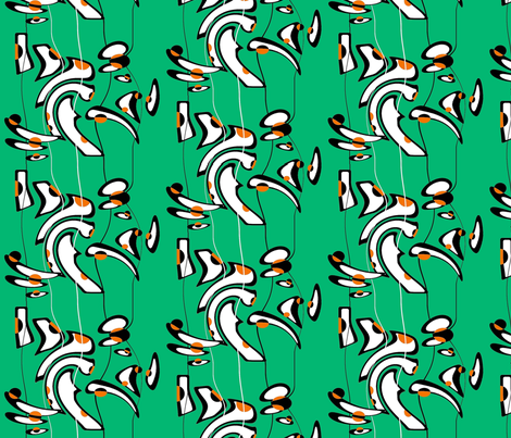 bones fabric by retroretro on Spoonflower - custom fabric
