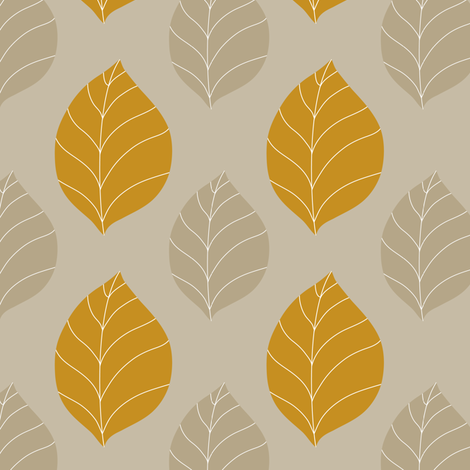Neutral autumn fabric by vo_aka_virginiao on Spoonflower - custom fabric