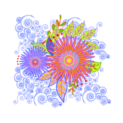 Floral Pillow-a-ed
