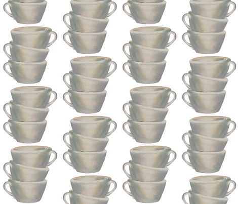 Stack of cups fabric by karenharveycox on Spoonflower - custom fabric