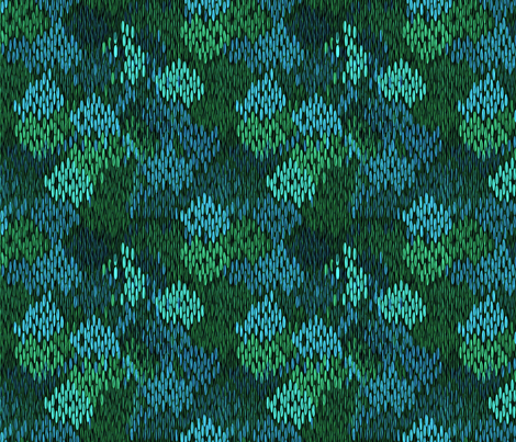 stitch_works water garden fabric by glimmericks on Spoonflower - custom fabric