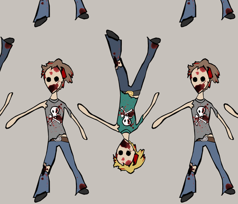 Zombie Dolls fabric by pond_ripple on Spoonflower - custom fabric