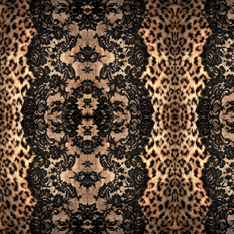leopard lace fabric by paragonstudios on Spoonflower - custom fabric