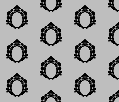 angelframe_gray fabric by morrigoon on Spoonflower - custom fabric