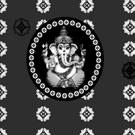Glorious Big Mono Ganesh fabric by lovekittypink on Spoonflower - custom fabric