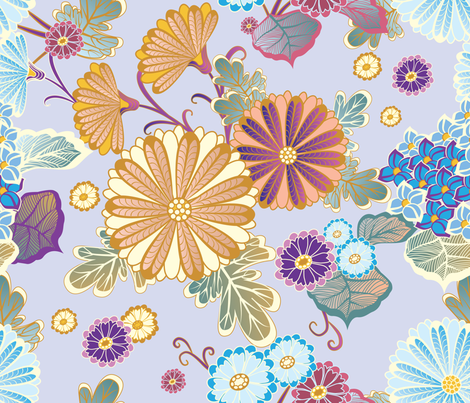 Flowers 2 fabric by milenagaytandzhieva on Spoonflower - custom fabric