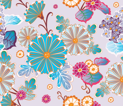 Flowers 3 fabric by milenagaytandzhieva on Spoonflower - custom fabric