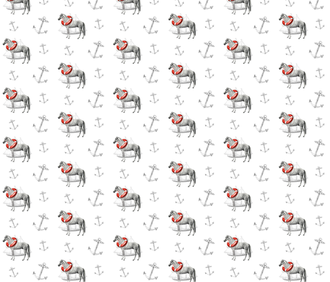 Seahorse fabric by ragan on Spoonflower - custom fabric