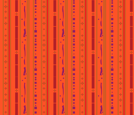 Bright Autumn Stripe with pattern  © Gingezel™ 2012 fabric by gingezel on Spoonflower - custom fabric