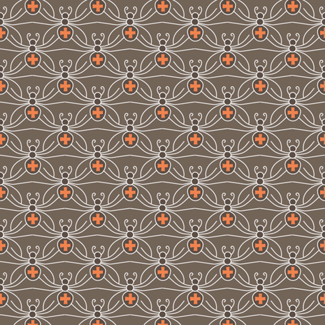 A Web of Black Widows fabric by kayajoy on Spoonflower - custom fabric