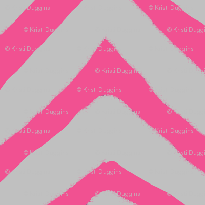 Jagged Chevron Pink and Grey