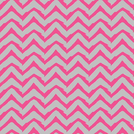Jagged Chevron Pink and Grey fabric by bohobear on Spoonflower - custom fabric