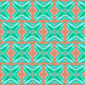 Beachy Starburst Aqua Green Coral