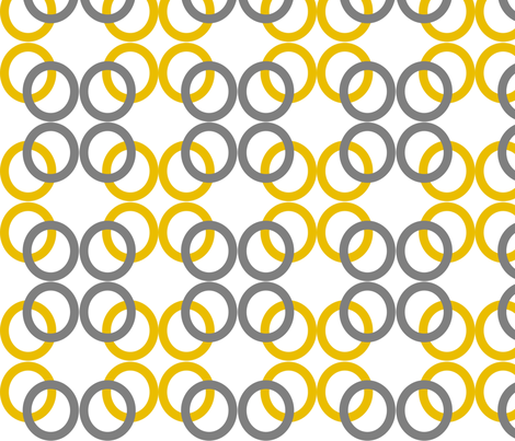 Mustard_Gray_Circles fabric by reganraff on Spoonflower - custom fabric