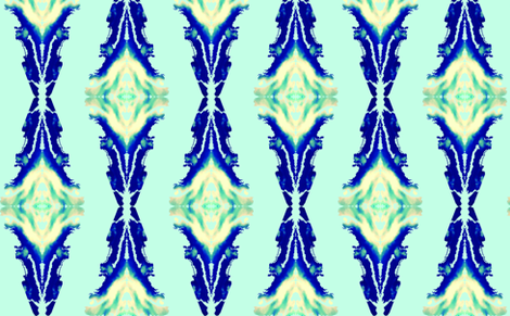 Aqua Blue Ikat  Vertical Pattern