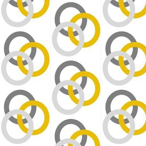 Gray and Mustard Circles