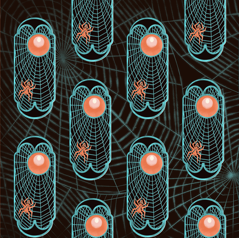 Spider web (night) fabric by kirpa on Spoonflower - custom fabric
