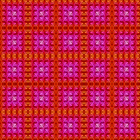 haute pink waffle fabric by spontaneouscombustion on Spoonflower - custom fabric