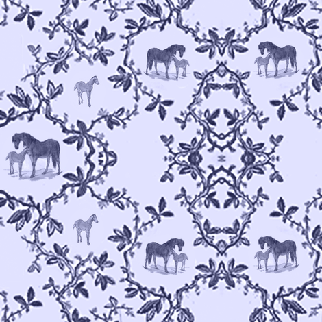 toilehorsenavy fabric by ragan on Spoonflower - custom fabric