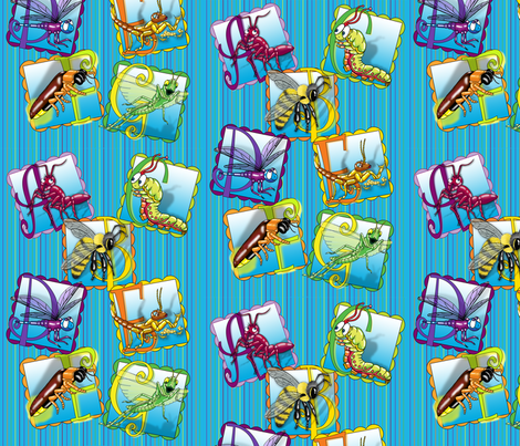 not_so_creepy_crawlers_alphabet fabric by lfreud on Spoonflower - custom fabric