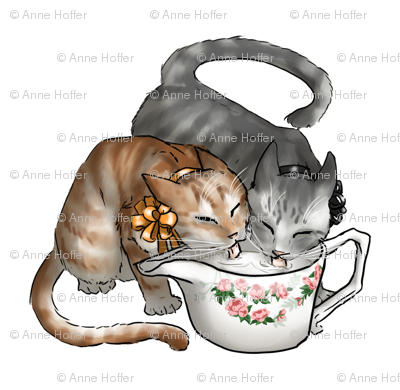 Kitten Tea Party, Drinking Creamer