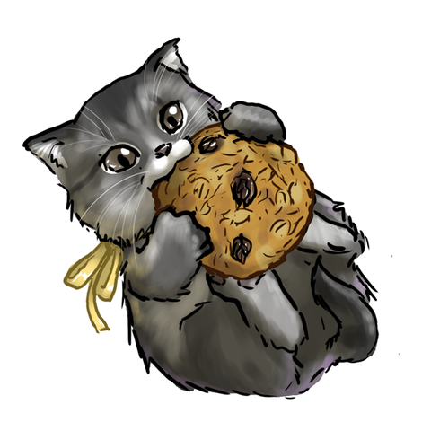 Kitten Tea Party, Oatmeal Cookie