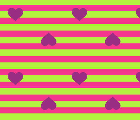 Hearts and Stripes fabric by staceyjean on Spoonflower - custom fabric