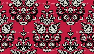 all fired up damask ikat