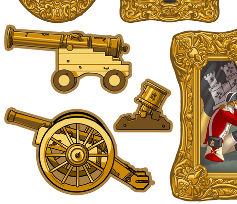 Soldiers and Canons, For Decals.