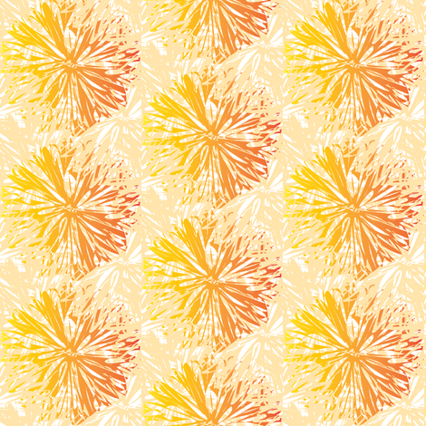 Floral Burst fabric by lilbirdfly on Spoonflower - custom fabric