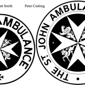 "MattvSmith 5""  Peter Cushing 6"" St Johns Ambulance Logo"