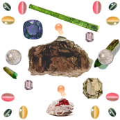 Vintage Printable -Translucent gems and minerals