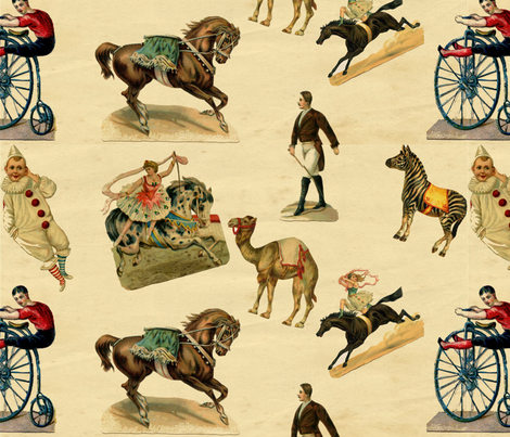 A Victorian Day at the Circus fabric by marchhare on Spoonflower - custom fabric