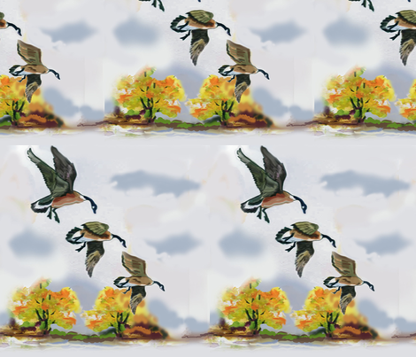 Flying Geese fabric by dogdaze_ on Spoonflower - custom fabric