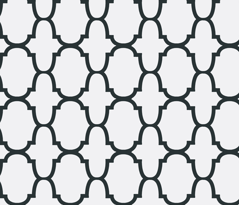 Quatrefoil- Charcoal/White fabric by mrsmberry on Spoonflower - custom fabric