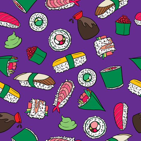 Sushi Party fabric by rosalarian on Spoonflower - custom fabric