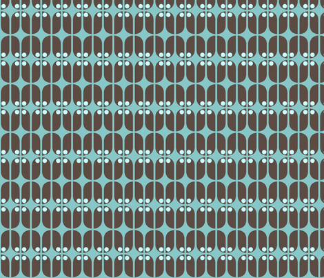 Mod Teal Turk fabric by brainsarepretty on Spoonflower - custom fabric