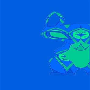 Gypsy Fox - Teal & Grey