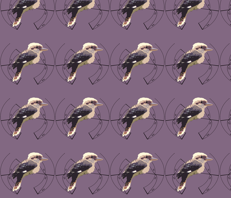 Kookaburra - Decal fabric by featheralchemist on Spoonflower - custom fabric