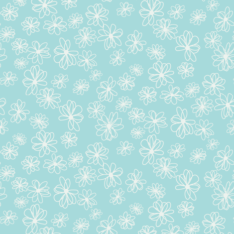 modest daisy_c1 fabric by paintedstudio on Spoonflower - custom fabric