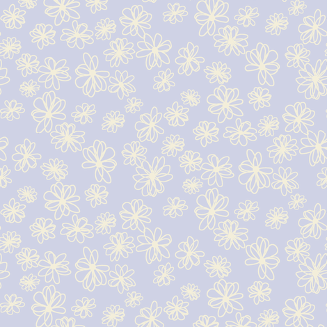 modest daisy flower_c2 fabric by paintedstudio on Spoonflower - custom fabric