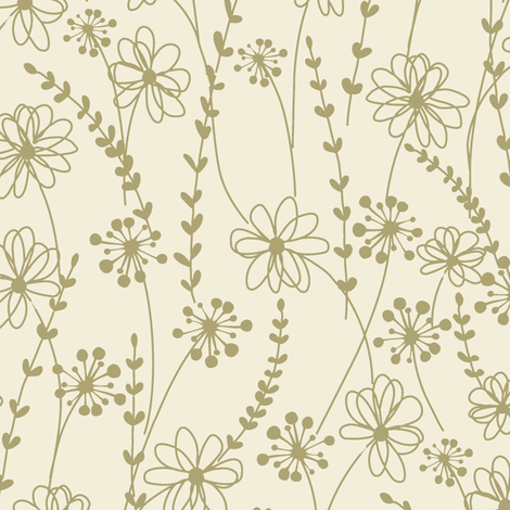 stitched flower monotone_c2 fabric by paintedstudio on Spoonflower - custom fabric