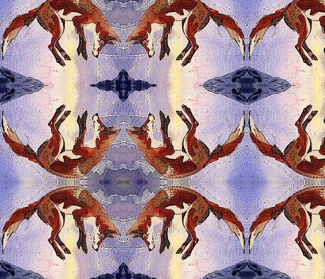 Lightning's Hour Fox fabric by featheralchemist on Spoonflower - custom fabric