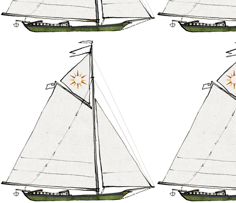 sloop clearwater fabric by bowsprite on Spoonflower - custom fabric
