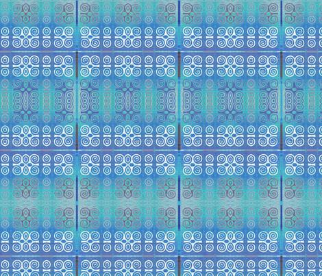 Ikat Adinkra Primitive in Blue