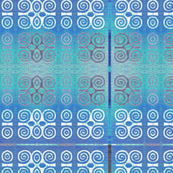 Ikat Adinkra Primitive in Blue